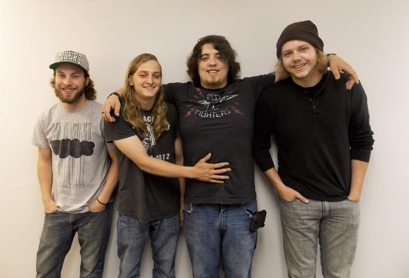 Goofing Around: Devin & The Dead Frets, from left, Eric Batenburg, Devin Weber, Zach Nelson and Jordan Kerbyson.