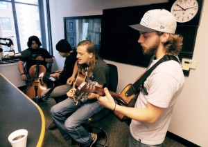 In The Studio: Devin & The Dead Frets on Local Spins Live. (Photo/Anna Sinkevics)