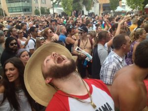 Celebrating Beer, Bands and Summer: Last year's Founders Fest packed street. (Photo/Local Spins)