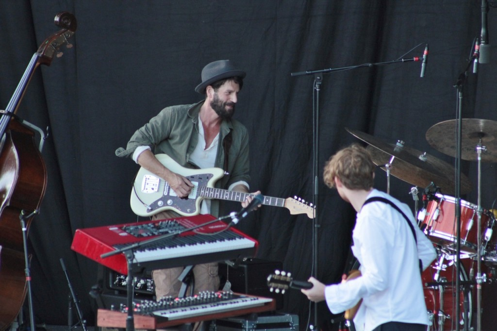 Before the Meltdown: A smiling Ray LaMontagne early during his set at Meijer Gardens on Wednesday. (Photo/Anna Sink)