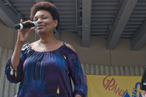 Festival Fave: Edye Evans Hyde opened things with the Grand Rapids Jazz Orchestra. (Photo/Tori Thomas)