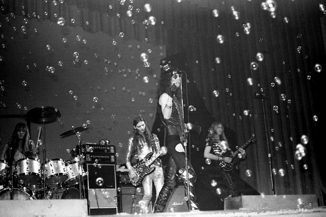 "Alice Cooper, Circa 1972: These photos were taken at a South Carolina concert on the same ""Killer Tour"" that stopped in Holland a month later. (Photo/Hunter Desportes)"