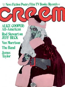 Cover Boy: Alice Cooper as Santa on the cover of Creem magazine.