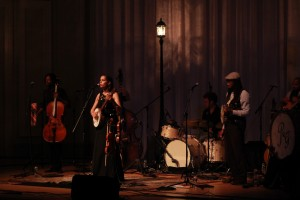 Acoustic Cafe Finale: Rhiannon Giddens and band on Friday. (Photo/Anna Sink)