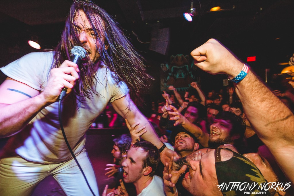 In-Your-Face Party Attitude: Andrew W.K. at The Pyramid Scheme's fourth anniversary party on Friday. (Photo/Anthony Norkus)