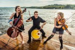 Fountain Point Folk: The Accidentals frolicking on the dock at Fountain Point Resort, which hosts a music festival this weekend. (Photo/Tony Demin)