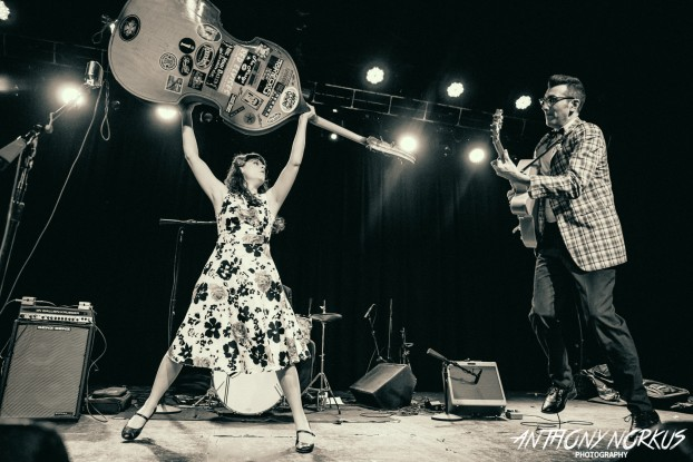 Haunting Retro Rock: Delilah DeWylde plays three Halloween parties next week so she knows a lot about scary vintage rock. (Photo/Anthony Norkus)