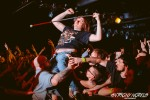 """Inspiring Band, Inspiring Fan: Allendale's Tony Gebhard proved during Killswitch Engage's show at The Intersection that no disability """"should stop you from getting in the pit."""" (Photo/Anthony Norkus)"""