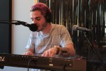 Soulful Electronic Pop: E. Andrei performing in Studio X at WYCE. (Photo/Anna Sink)