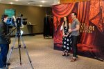 """Stars of the Show: Katie Travis and Chris Mann during this week's press briefing for """"The Phantom of the Opera."""" (Photo/Hunter Gamble)"""