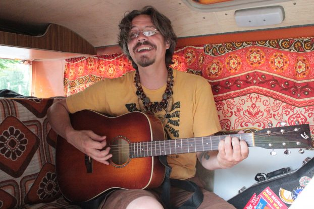 Songs for the Road: Nicholas James Thomasma should know after a long voyage with his beloved VW bus, Kelly Jo. (Photo/Anna Sink)