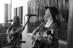 Filling the Spaces: The Crane Wives in Studio X at WYCE. (Photo/Anna Sink)