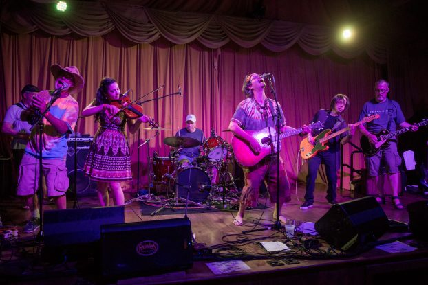 Tall Tall Tales and Passionate Performances: Nicholas James & The Bandwagon's album-release show at Founders Brewing on Saturday was part of a hectic week of music. (Photo/Rex D. Larsen)