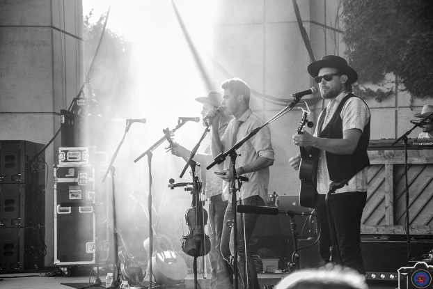Party Starters: Old Crow Medicine Show on stage Thursday at Meijer Gardens. (Photo/Nathan Purchase)