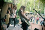 Rock in the Woods: The Outer Vibe on stage during the Beaver Island Music Festival. (Photo/Anna Sink)