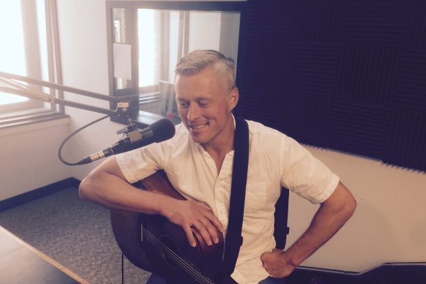 On the Air: Singer-songwriter Josh Rose during Local Spins Live.