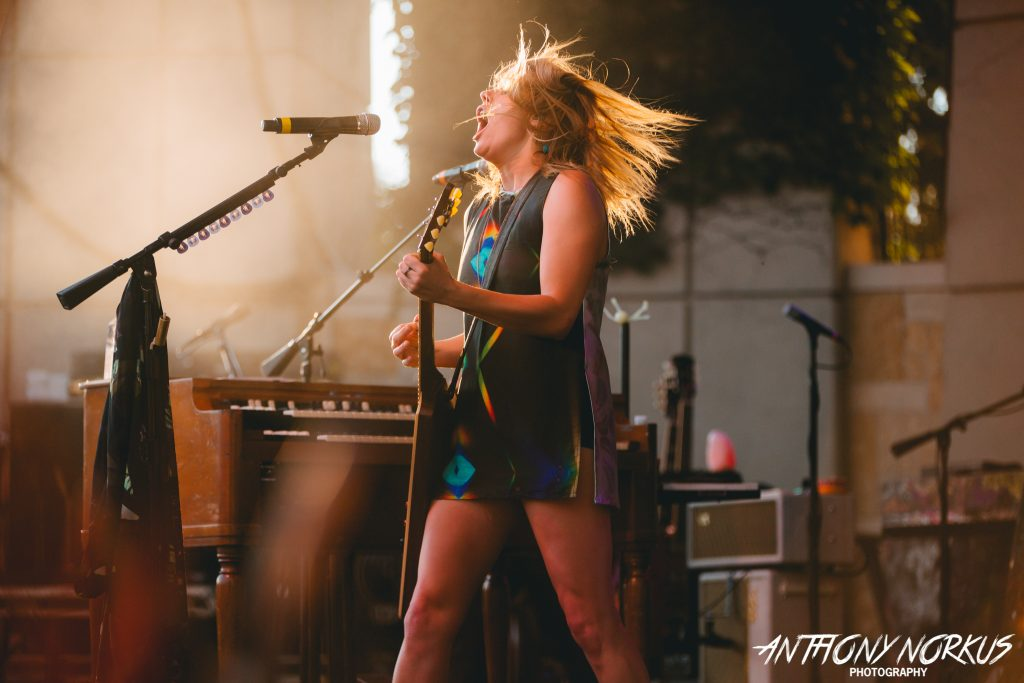 The Lion the Beast the Beat and Grace Potter: The singer on stage at Meijer Gardens Wednesday. (Photo/Anthony Norkus)