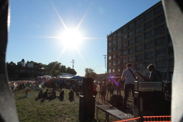 Returning Saturday: Music for Miles sets up across from Spoke Folks with a host of bands performing. (Photo/Anna Sink)