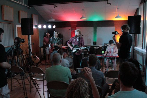 Intimate Show: The Muteflutes played and chatted at River City Studios during the Local Spins Live session. (Photo/Anna Sink)