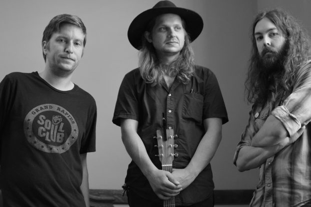 All-Enveloping Sound: From left, Trevor Goldner, Ben Weissenborn and Sean Stearns of Coffin Problem. (Photo/David Specht)