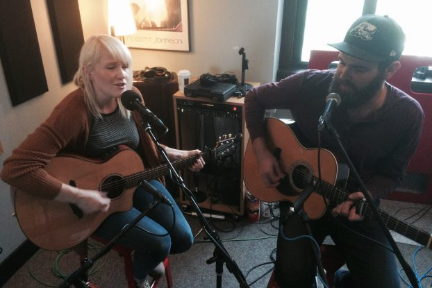 Playing the Blue Bridge Music Fest: Kari Lynch and Justin Eames also stopped by Local Spins on WYCE this week. (Photo/Local Spins)