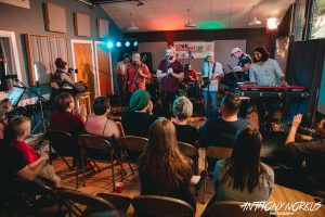 Local Spins Live: The band and the audience during the Watching for Foxes session. (Photo/Anthony Norkus)