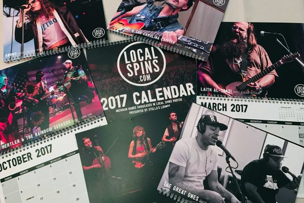 Michigan Bands, Michigan Festivals: Track 2017 resplendently with Local Spins calendars showcasing Michigan artists and festivals.