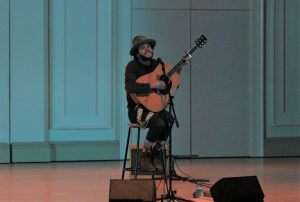 Cohen Tribute: Langhorne Slim performed a song by the late Leonard Cohen. (Photo/Anna Sink)