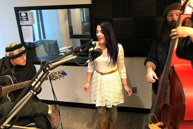 Two Justins and a Hannah: The trio performed acoustically during Local Spins Live. (Photo/Local Spins)