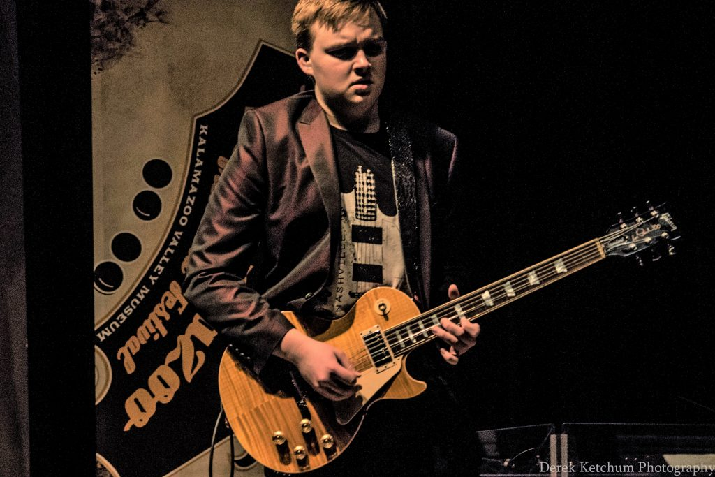 Striking 'while the iron is hot': 16-year-old Jake Kershaw brings eye-popping blues-guitar fire to Grand Rapids