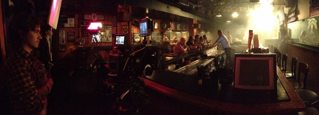 Bar Scene: Shooting the music video at Mulligan's Pub in Eastown.
