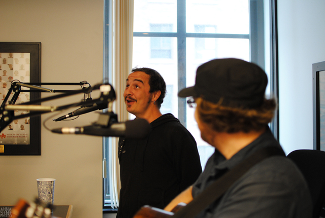 UV Hippo's Samuels and James on Local Spins Live. (Photo/Anna Sink)