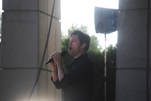 New Orlean's Finest: Harry  Connick Jr. and his 13-piece orchestra regaled a sold-out crowd at Meijer Gardens on Wednesday. (Photo/Anna Sink)