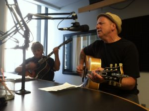 Mitch Wood and Jack Leaver on Local Spins Live. (Photo/Mary Mattingly)