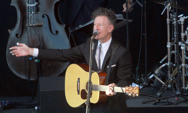 That's Right, He's From Texas: Lyle Lovett and His Large Band regaled a crowd of 1,900 on Saturday.