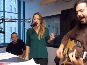 Soulful Vocals: Hannah Rose Graves in the WJRW studios. (Photo/Anna Sink)