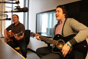 Ykimoff and Johnson on Local Spins Live (Photo/Anna Sink)