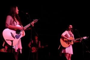 Emilee Petersmark and Kate Pillsbury during their opening set on Saturday night. (Photo/Anna Sink)
