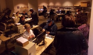Staffers were busy handling the rush of ticket-buyers Saturday morning.