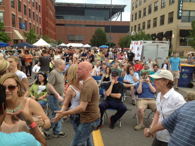 Road Dance: Last year's Local First Street Party drew a huge crowd and even bigger throngs are expected on Saturday. (Photo/Local Spins)