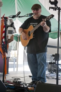 Ned Rouse performed on Festival's Fountain Stage on Saturday. (Photo/Tori Thomas)