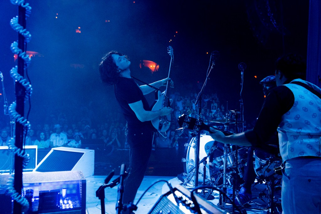 Blues-Driven Brilliance: Jack White and band performing at Chicago's Auditorium Theatre on Thursday. (Photo/David James Swanson)