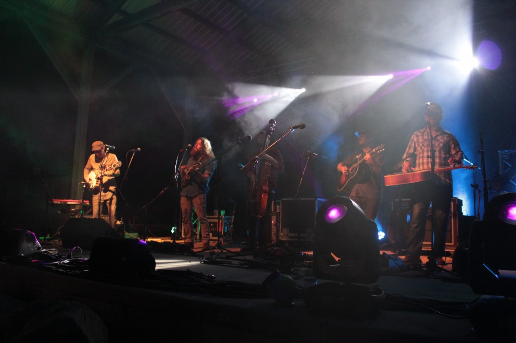 Hoxeyville Heroes: Greensky Bluegrass on the main stage Saturday night. (Photo/Anna Sink)