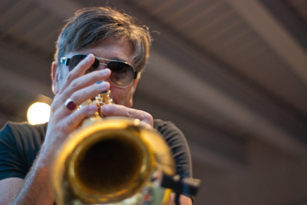 Real Deal: Trumpeter Rick Braun closed out the first day of GRandJazzFest. (Photo/Tori Thomas)