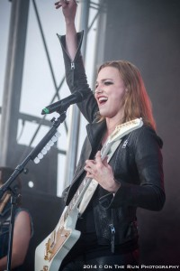 Halestorm Hero: Lzzy Hale of Halestorm at Fifth Third Ballpark. (Photo/Eric Stoike)