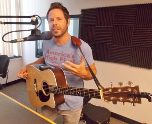 Brett Mitchell on Local Spins Live. (Photo/Local Spins)