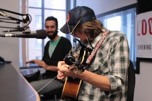 Lockwood and Rickabus on Local Spins Live. (Photo/Anna Sink)