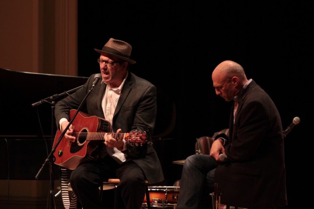 First-Time Acoustic Cafe Pairing: Ralston Bowles with Rob Reinhart at St. Cecilia Music Center. (Photo/Anna Sink)