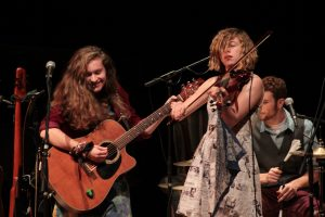 Boundless Energy: The Accidentals on the Royce Auditorium stage. (Photo/Anna Sink)