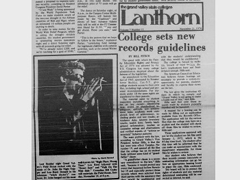 'Walk on the Wild Side': Lou Reed on the front page of the Lanthorn.